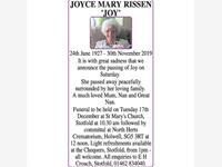 JOYCE MARY RISSEN 'JOY' photo
