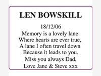 Len Bowskill photo