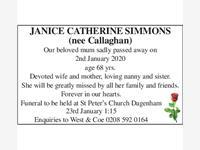 JANICE CATHERINE SIMMONS photo