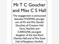 Mr T C GOUCHER and Miss C S HALL photo