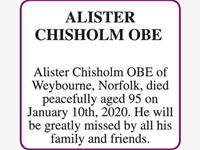 ALISTER CHISHOLM OBE photo