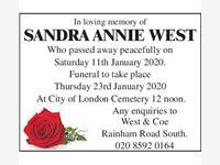 Sandra Annie West photo