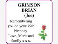 BRIAN (Joe) GRIMSON photo