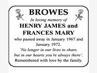 HENRY JAMES and FRANCES MARY BROWES  photo