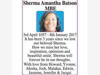 Sherma Amantha Batson MBE photo