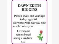DAWN EDITH HIGGINS photo