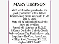 Mary Timpson photo
