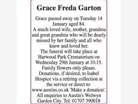Grace Freda Garton  photo