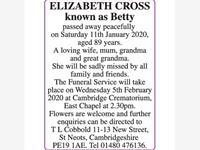 ELIZABETH CROSS 'BETTY' photo