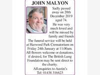 John Malyon photo