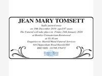 JEAN MARY TOMSETT photo