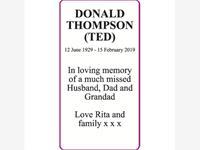 DONALD THOMPSON (TED)  photo