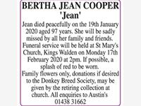 BERTHA JEAN COOPER 'Jean' photo