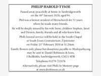 PHILIP HAROLD TYSOE photo