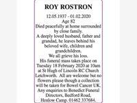 Roy Rostron photo