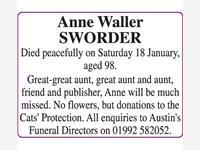 SWORDER Anne Waller photo