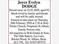 Joyce Evelyn DODGE photo