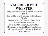 Valerie Joyce Webster photo
