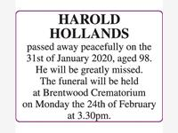 HAROLD HOLLANDS photo