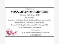 Miss Jean McGregor photo
