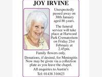 Joy Irvine photo