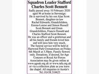 Squadren Leader Stafford Charles Scott Bennett photo