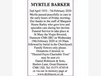 MYRTLE BARKER photo