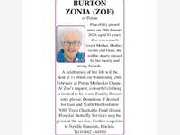ZONIA (ZOE) BURTON photo