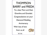 BARRY and FREDA THOMPSON photo
