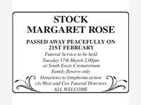 MARGARET ROSE STOCK photo