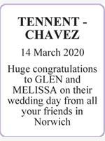 TENNENT - CHAVEZ photo