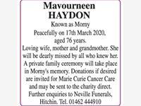 Mavourneen Haydon photo