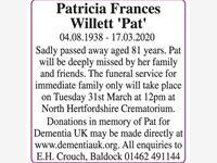 Patricia Frances Willett 'Pat' photo