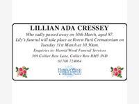 LILLIAN ADA CRESSLEY photo