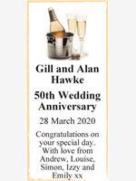 Gill and Alan Hawke photo