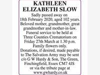 KATHLEEN ELIZABETH SLOW photo