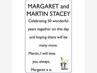 MARGARET and MARTIN STACEY photo