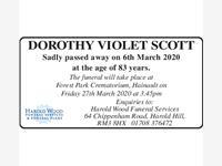 dorothy violet scott photo