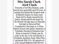 Mrs Sarah Clark Aird Clark photo