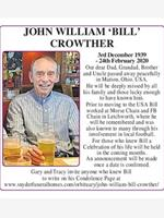 John William 'BILL' Crowther photo