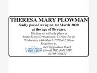 Theresa Mary Plowman photo