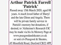 Arthur Patrick Farrell 'Patrick' photo
