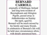 BERNARD CARROLL photo