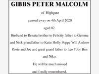 GIBBS PETER MALCOLM photo