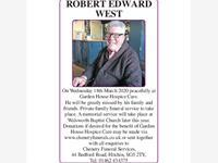 ROBERT EDWARD WEST photo