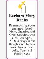 Barbara Mary Banks photo