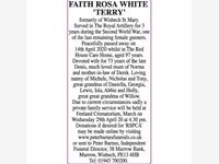 FAITH ROSA WHITE 'TERRY' photo