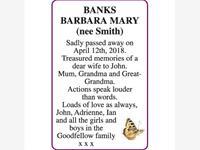 BARBARA MARY BANKS (nee Smith) photo