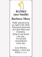 BANKS           (nee Smith) photo