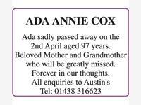 ADA ANNIE COX photo